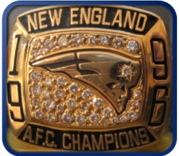 SUPER BOWL XXXI RUNNER UP 1996 NEW ENGLAND PATRIOTS