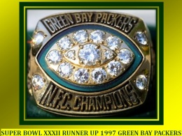 SUPER BOWL XXXII RUNNER UP 1997 GREEN BAY PACKERS