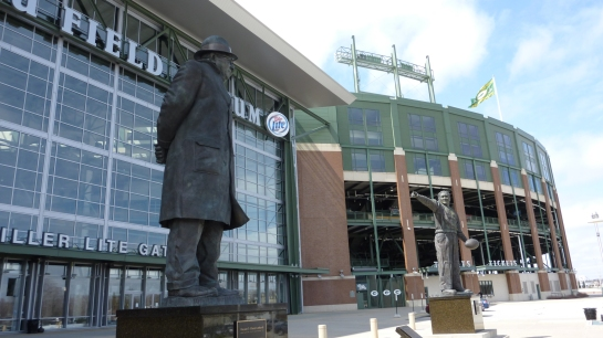 Statues of Vince Lombardi & Curly Lambeau